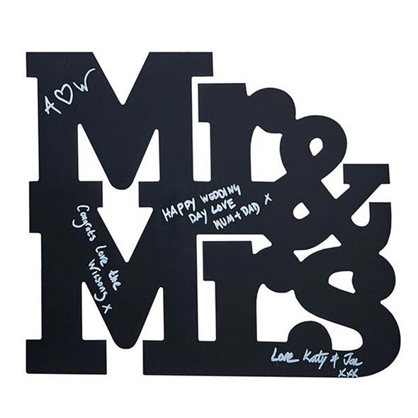 デコレーションアイテム ゲストブック/Mr&Mrs Wooden Chalkboard[ジンジャーレイ] 11