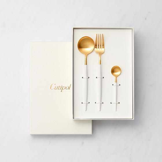結婚内祝い GOA/ホワイト 3本セット[クチポール] 3