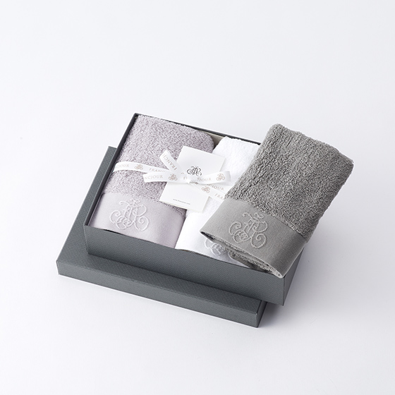 モノグラム/ゲストタオル 3枚セット[フランジュール] 10