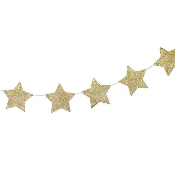 デコレーションアイテム ガーランド/Star Glitter/Gold[ジンジャーレイ]  25