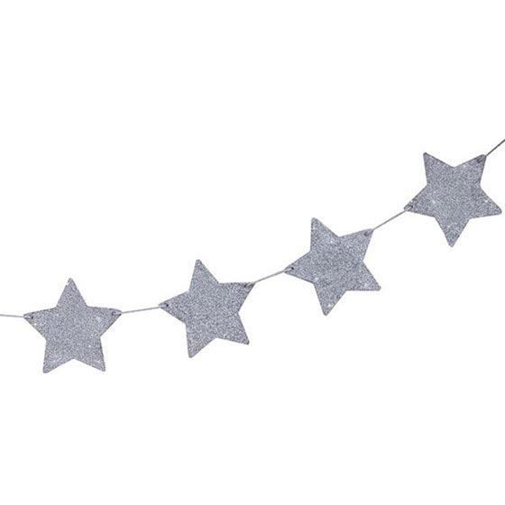 デコレーションアイテム ガーランド/Star Glitter/Silver[ジンジャーレイ] 24