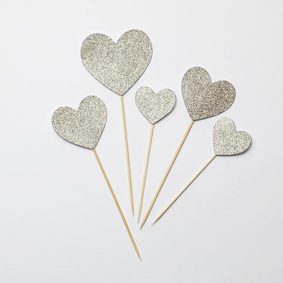 ケーキトッパー/Glitter Hearts[マイマインズアイ] 2