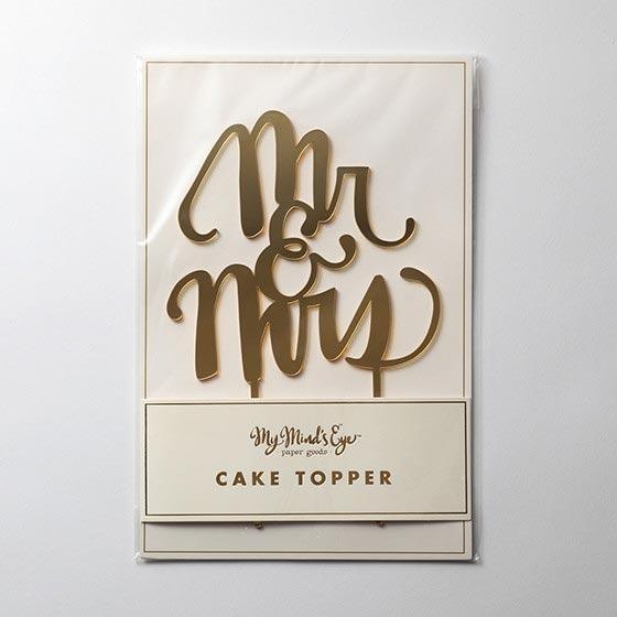 ケーキトッパー/Mr&Mrs[マイマインズアイ]  3
