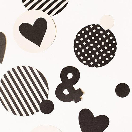 デコレーションアイテム コンフェッティ/Black&white[マイマインズアイ] 2