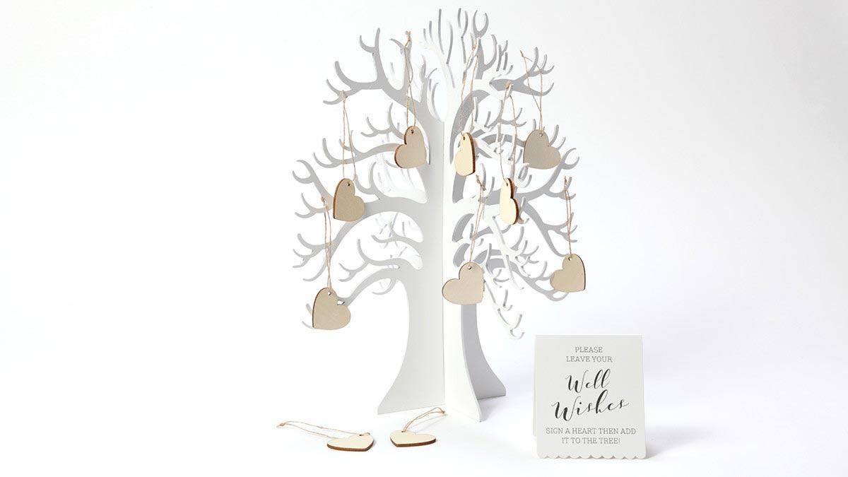 デコレーションアイテム ゲストブック/Wooden Wishing Tree[ジンジャーレイ] 30