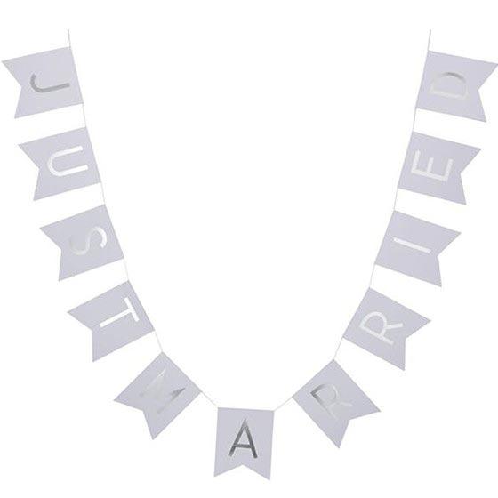 ガーランド ガーランド/Just Married/Silver&White[ジンジャーレイ] 14