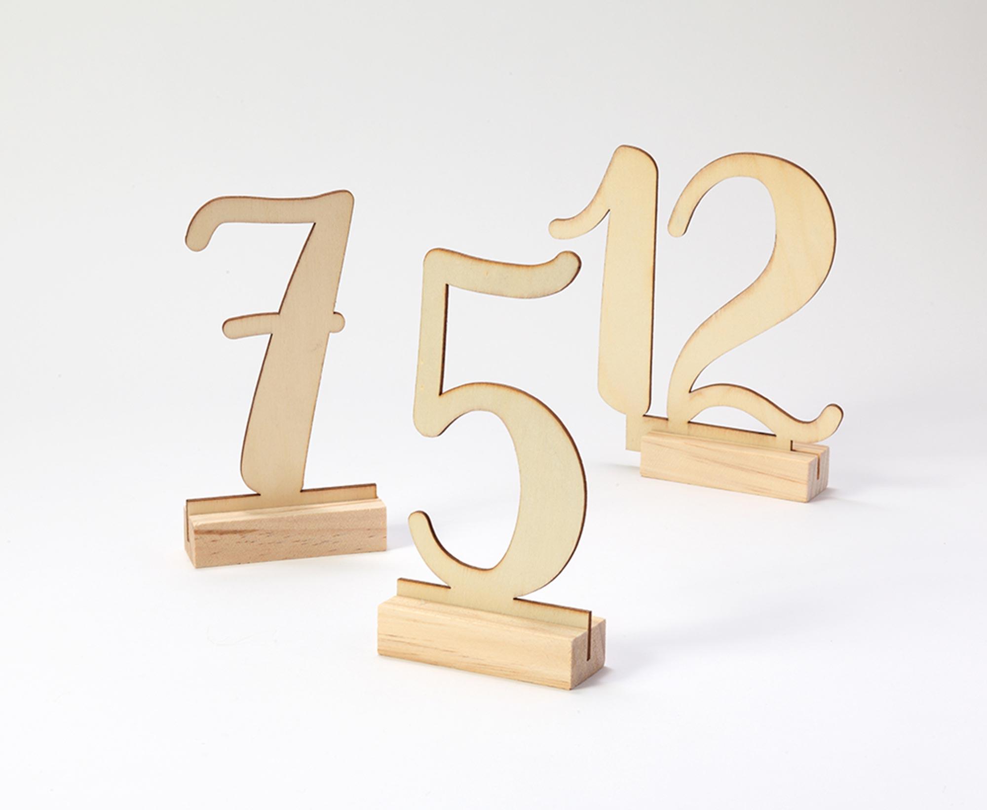 テーブルナンバー/Wood[ジンジャーレイ] 1