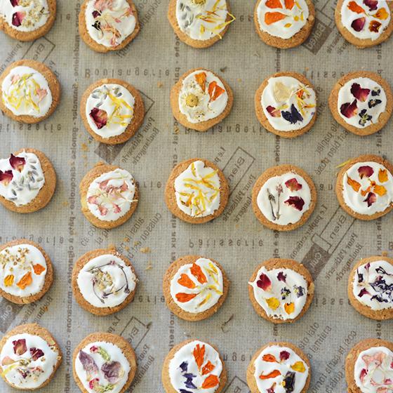 お花のクッキー 8個&スワッグ/ピンク セット[タニクハンモック] 4