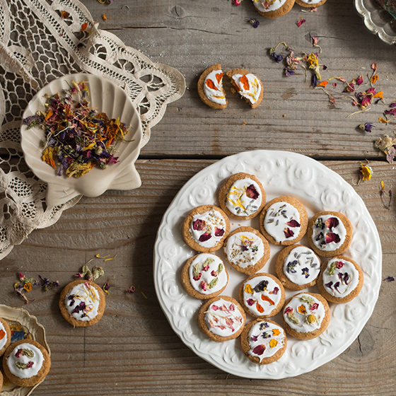 お花のクッキー 8個&スワッグ/ピンク セット[タニクハンモック] 8