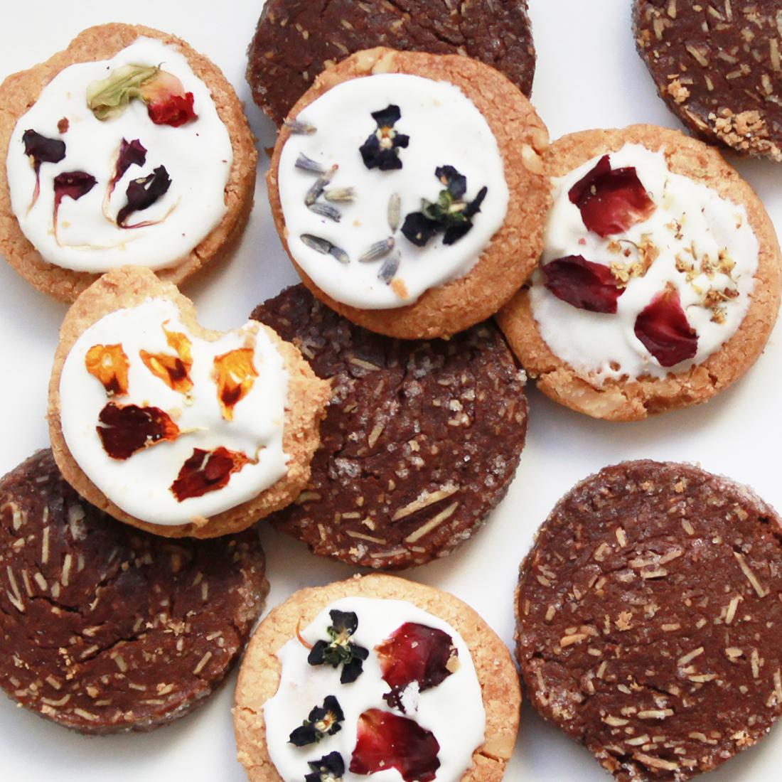 お花のクッキー 8個&スワッグ/ピンク セット[タニクハンモック] 6