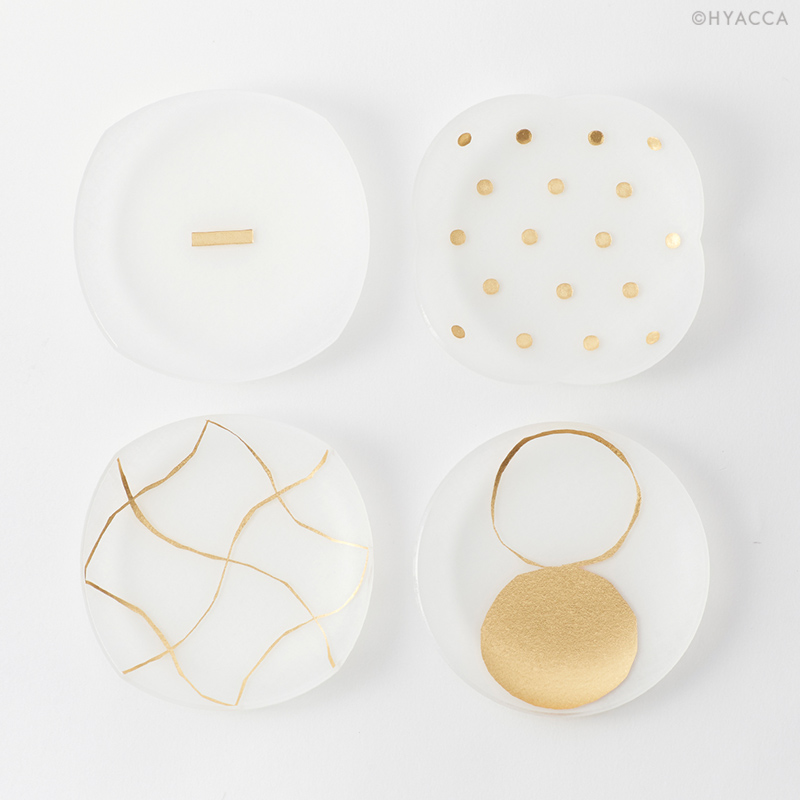 箔 豆皿/い/4枚セット[トウメイ] 2