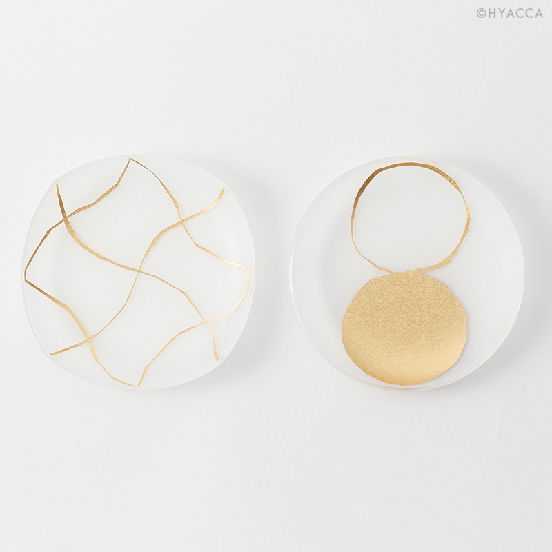箔 豆皿/い/2枚セット[トウメイ] 3