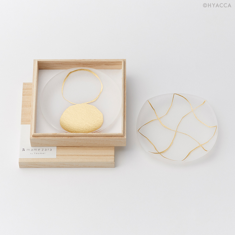 箔 豆皿/い/2枚セット[トウメイ] 17