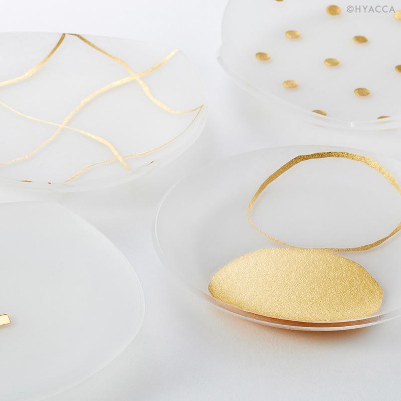 箔 豆皿/い/4枚セット[トウメイ] 3