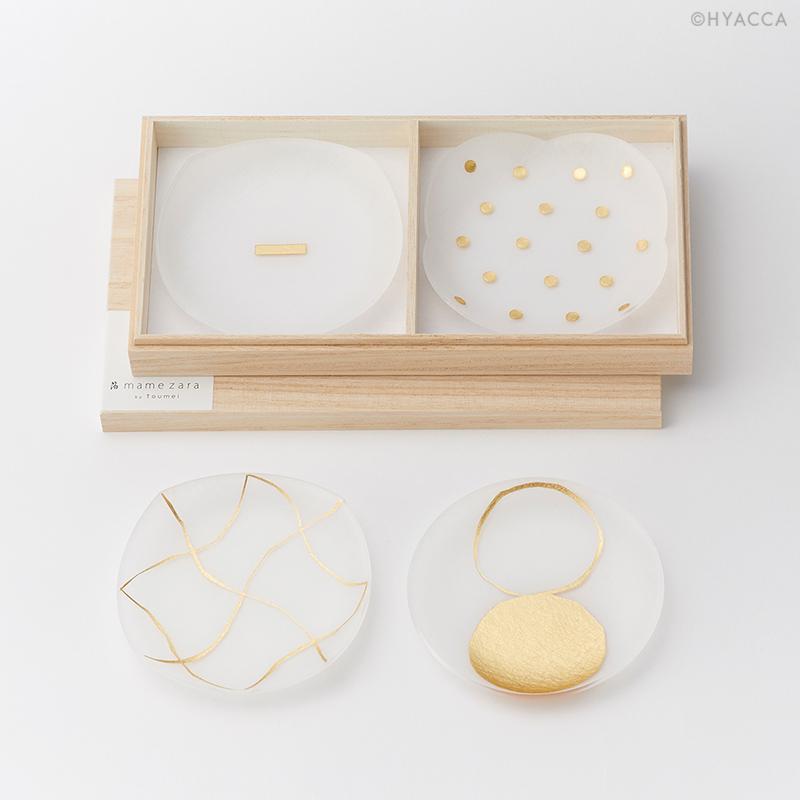 引き出物 箔 豆皿/い/4枚セット[トウメイ] 36
