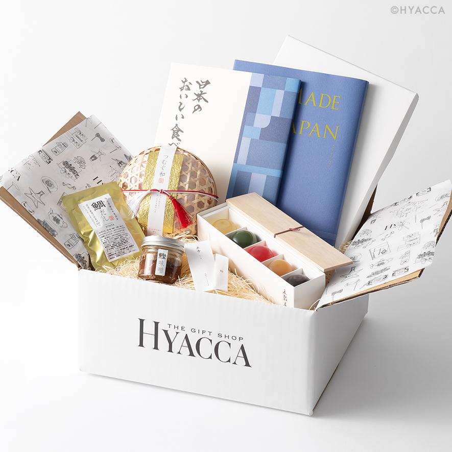 引き出物 カタログギフト/メイドインジャパン10+日本のおいしい食べ物/藍 2冊セット+和菓子+鯛出汁 28