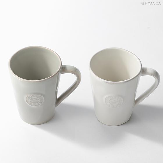 マグカップ 2個セット/ナチュラルカラー[コスタノバ] 3