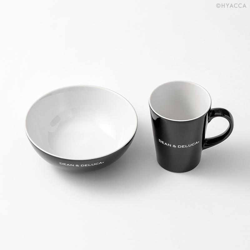 シリアルボウル&ラテマグSセット/ブラック[ディーン&デルーカ] 2