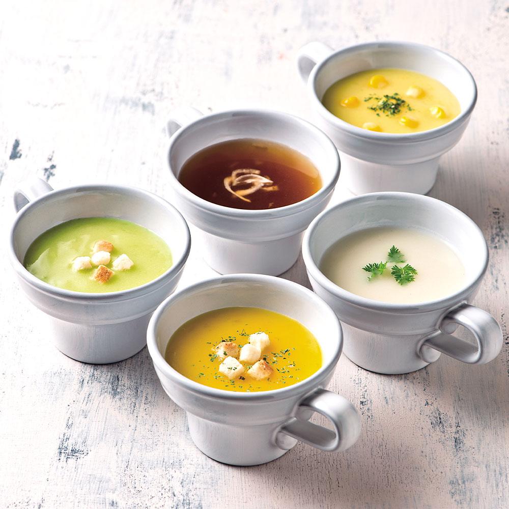 カタログギフト/やさしいきもち/ふんわり+バームクーヘン+スープ 7