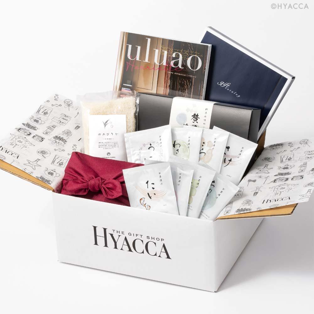 引き出物 カタログギフト/ウルアオ 全8種類+お米+お茶漬け 12