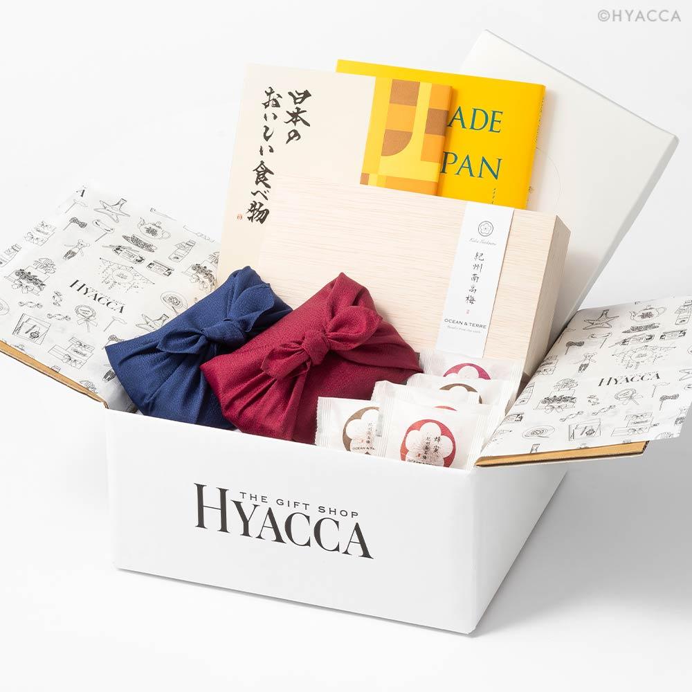 引き出物セット カタログギフト/メイドインジャパン+日本のおいしい食べ物2冊セット 全3種類+お米+梅干し 16